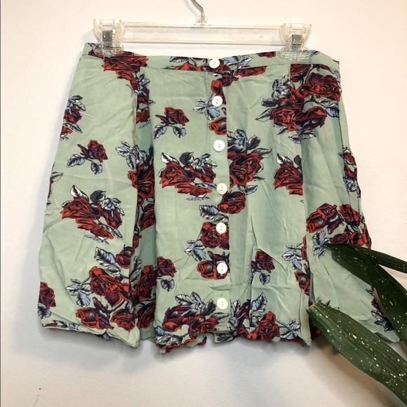MINKPINK Mint Floral Skirt